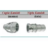 Cupla rapida Kamlok cu stut pentru furtun - 10 bar