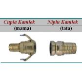 Cupla rapida Kamlok cu stut pentru furtun - 30 bar